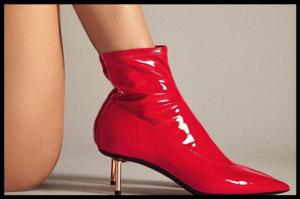 Crvene gležnjače iz lakirane kože, najpopularnija su obuća ove jeseni!