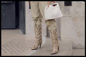 Kako nositi mid boots s uzorkom?